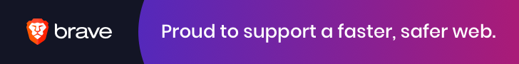 Brave. Proud to support a faster, safer web.