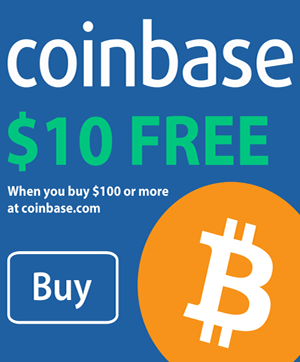 Buy Bitcoins on Coinbase and get $10 free!